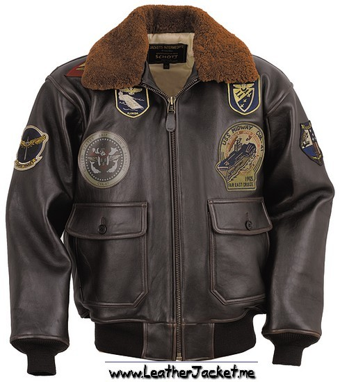 horsehide leather flight jacket J.A. Dubow, Army Air Forces